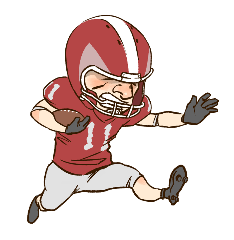 Playing clipartix. Muscle clipart football player