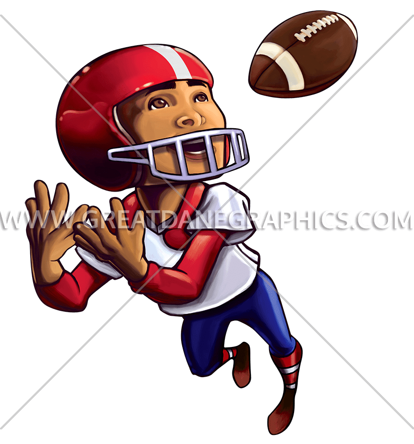 Clipart child football. Kid catch production ready