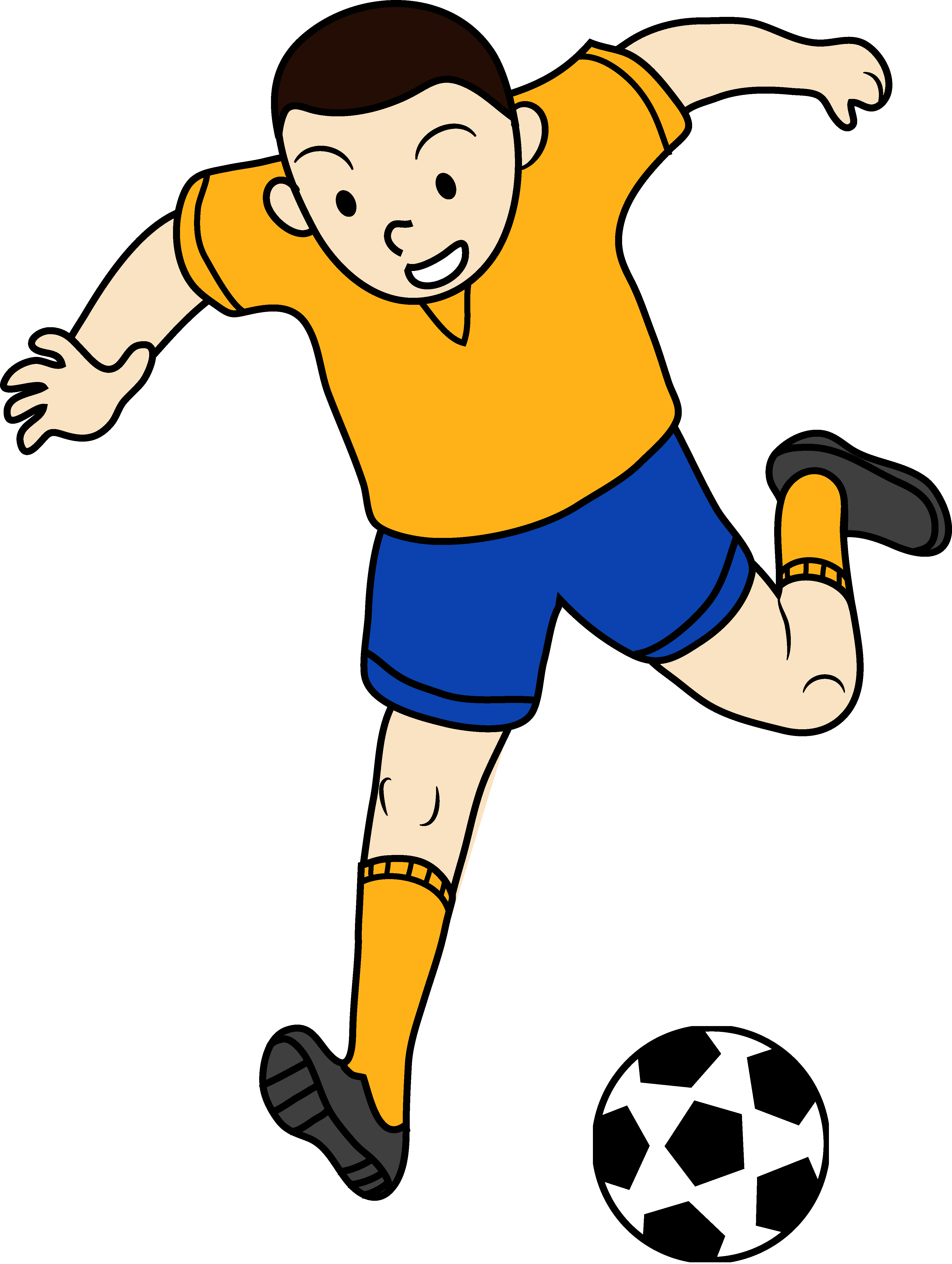 clipart football man