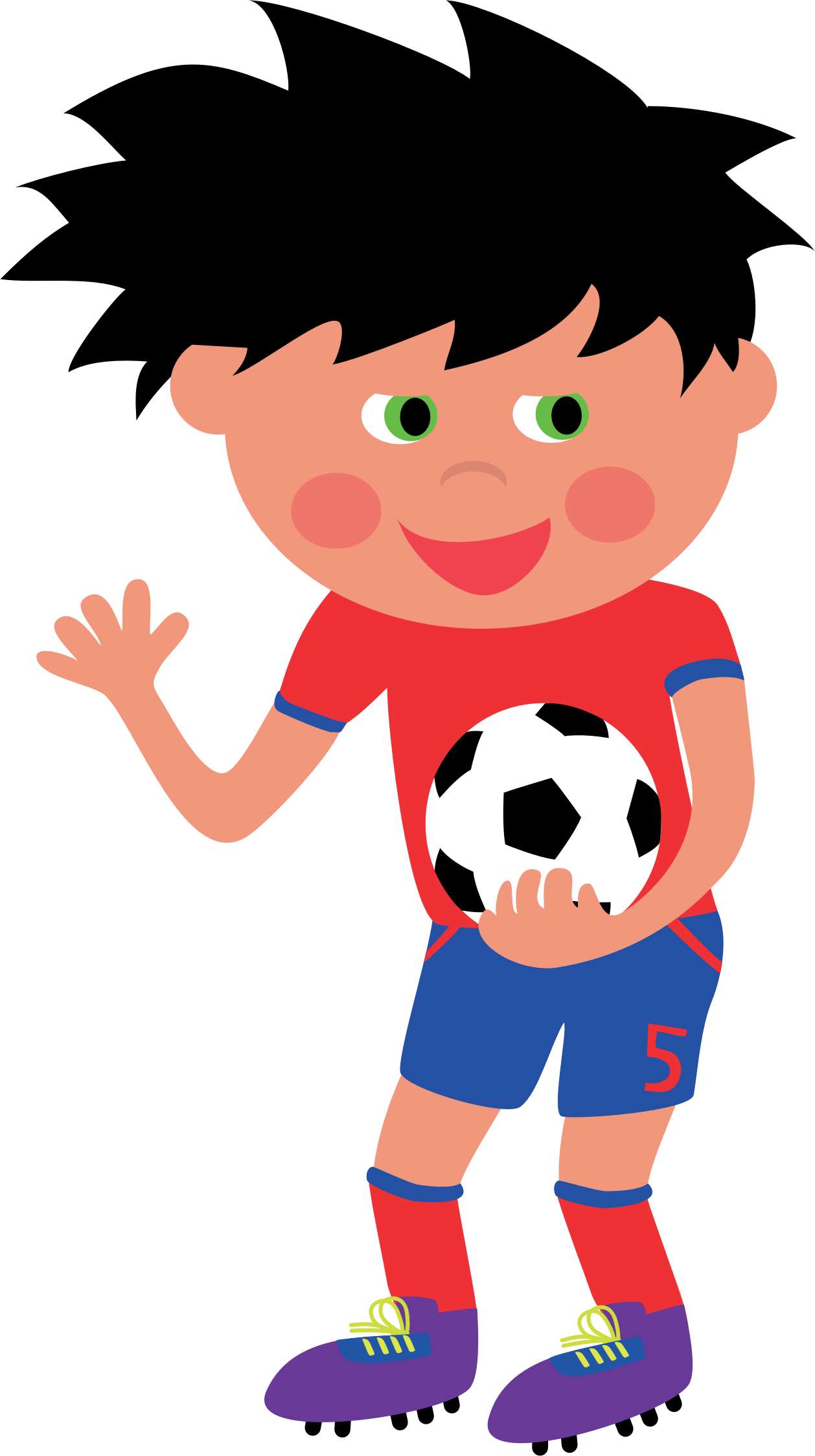 Clipart child football. Kid big image png