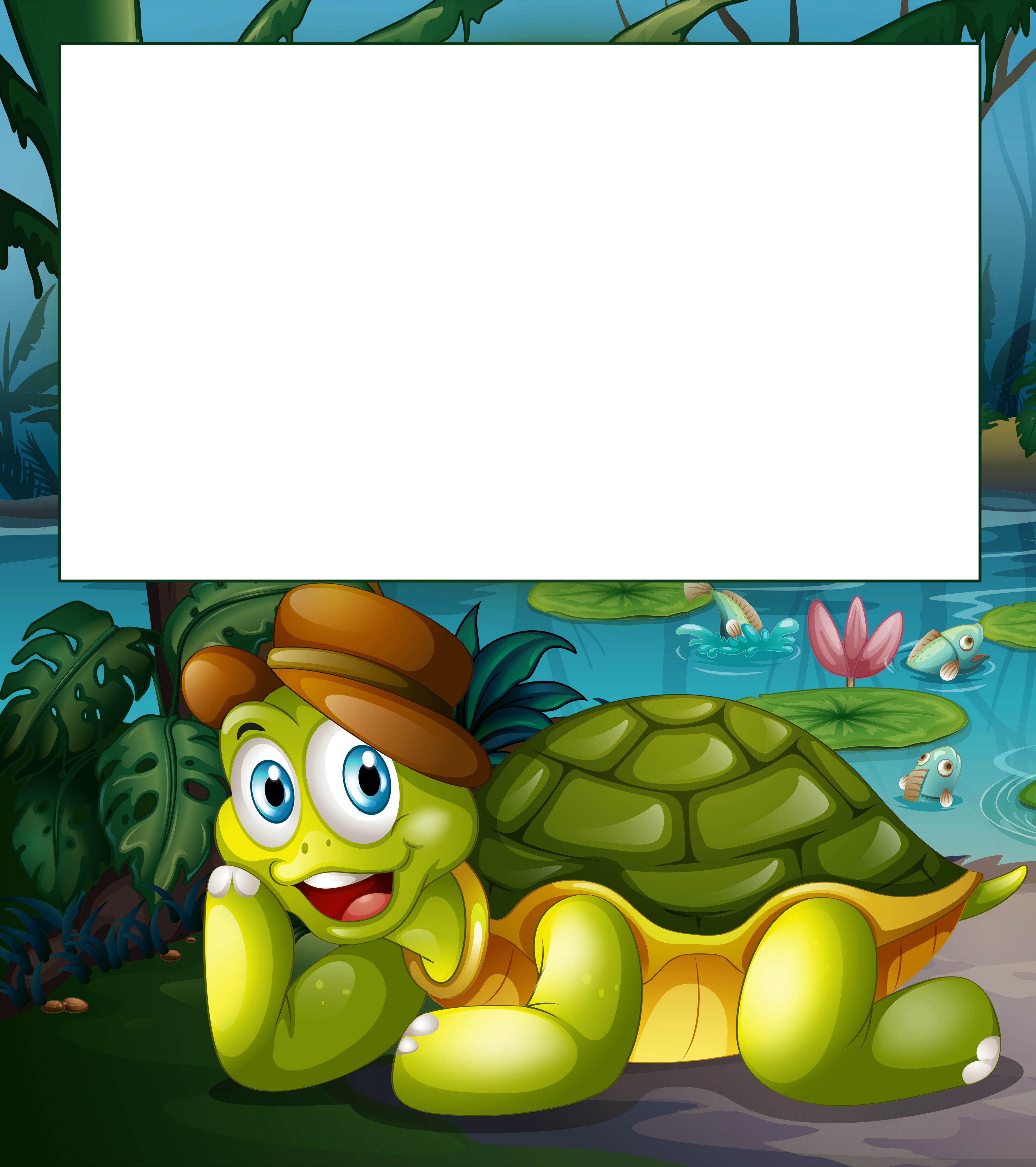 Child png frame with. Valentine clipart turtle