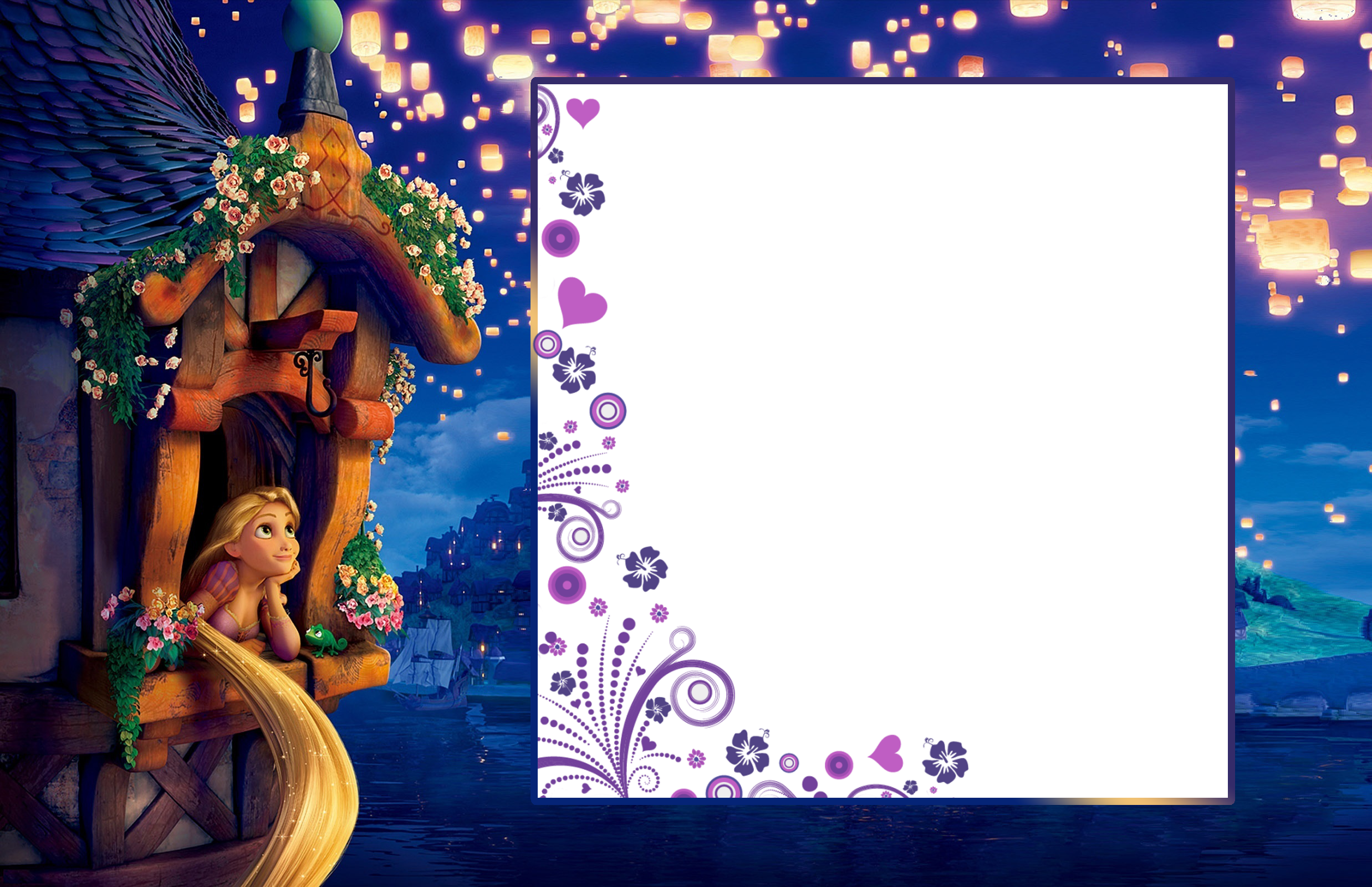 Rapunzel clipart christmas. Transparent child frame with