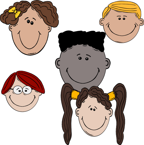 Clip art at clker. Lady clipart friends