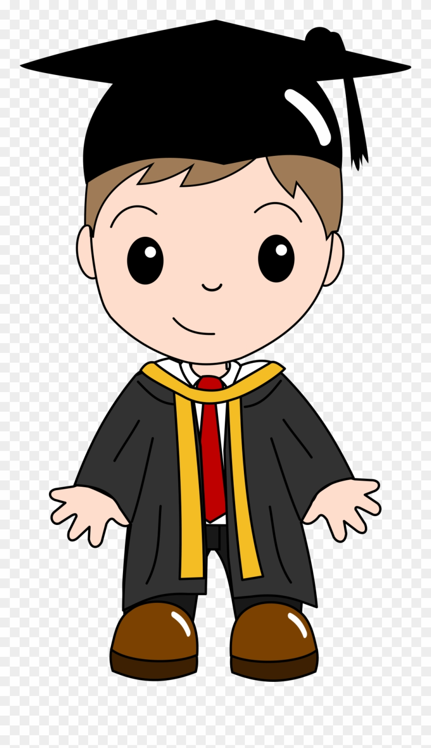 Graduation clipart boy. Ceremony cartoon clip
