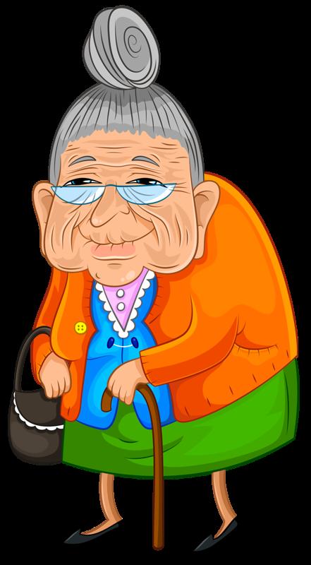 Clipart walking elderly. Humor quenalbertini personnages vivir