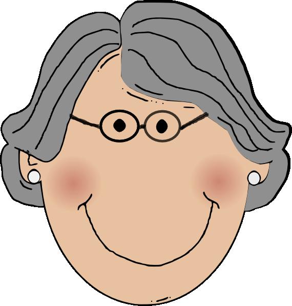 Clip art at clker. Cute clipart grandma