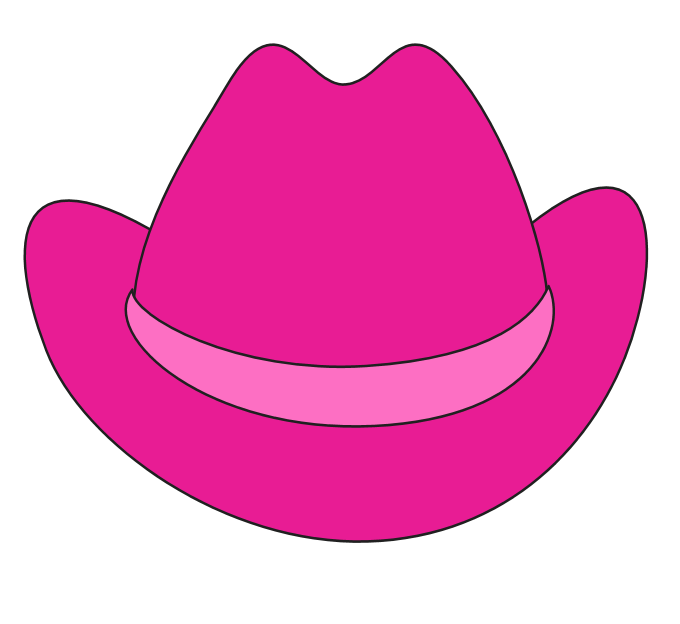 Dallas cowboys clipart pink. Cowboy hat clipartix
