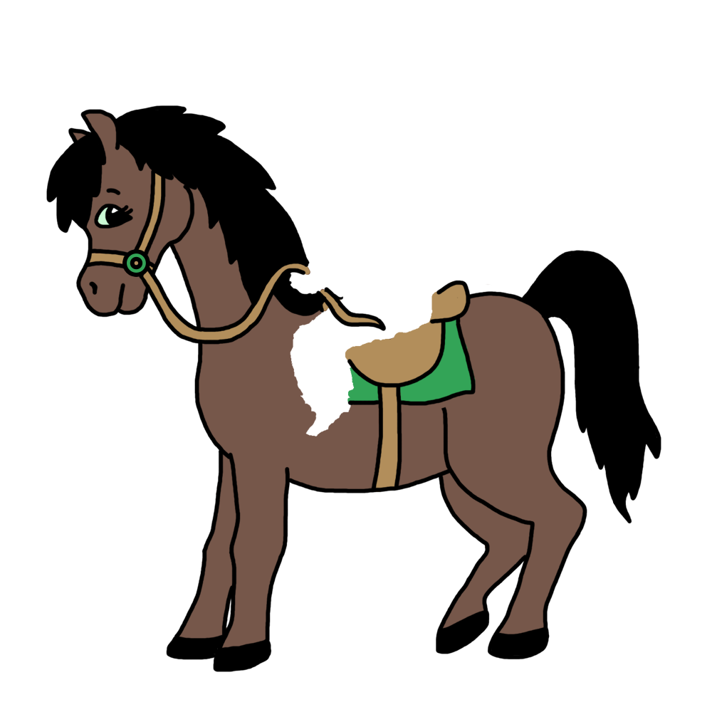 On personalized christmas ornament. Clipart horse boy