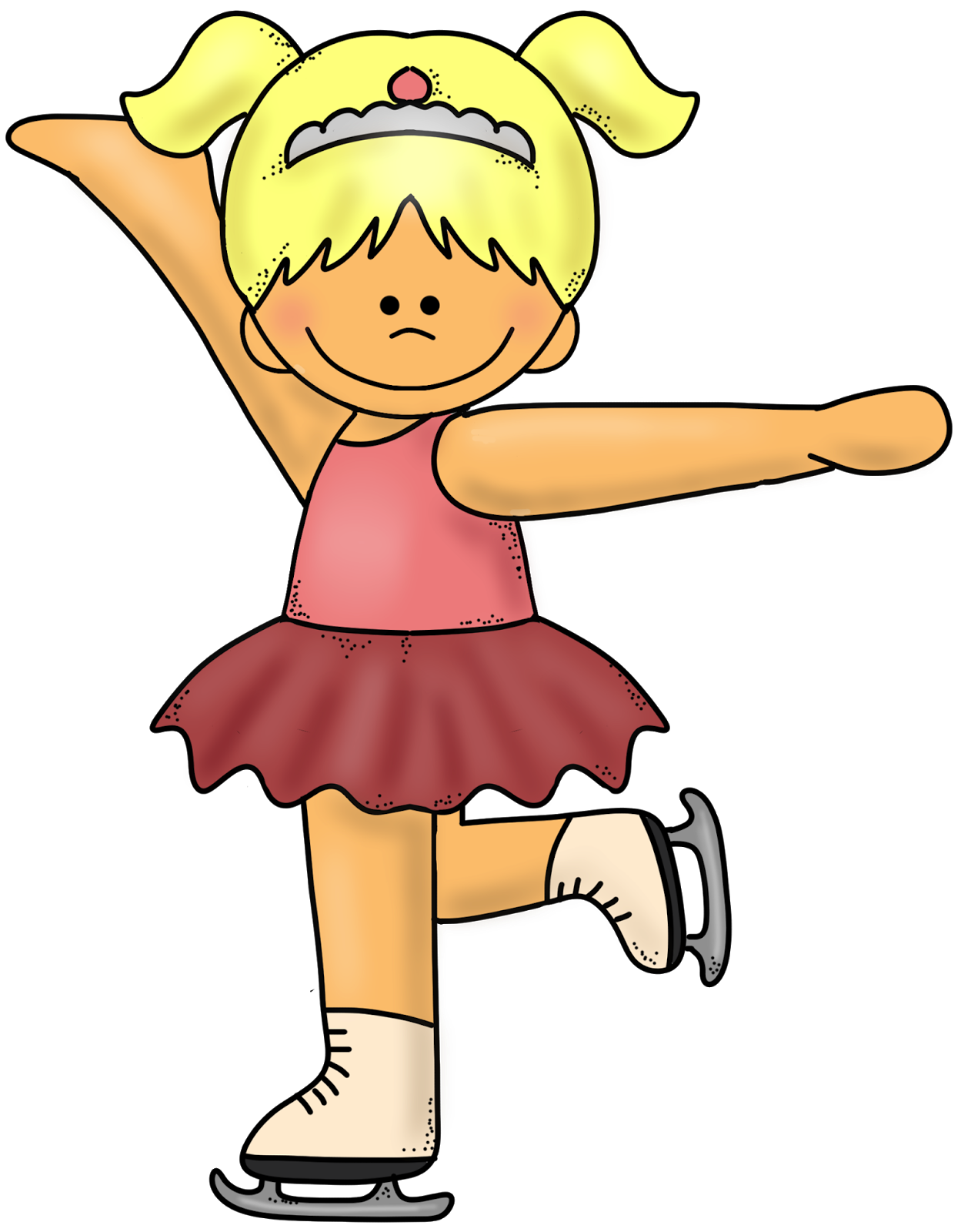 Olympic games skates figure. Clipart winter ice skating