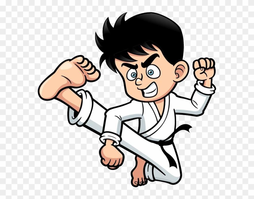 Karate clipart animated. Taekwondo drawing boy kick