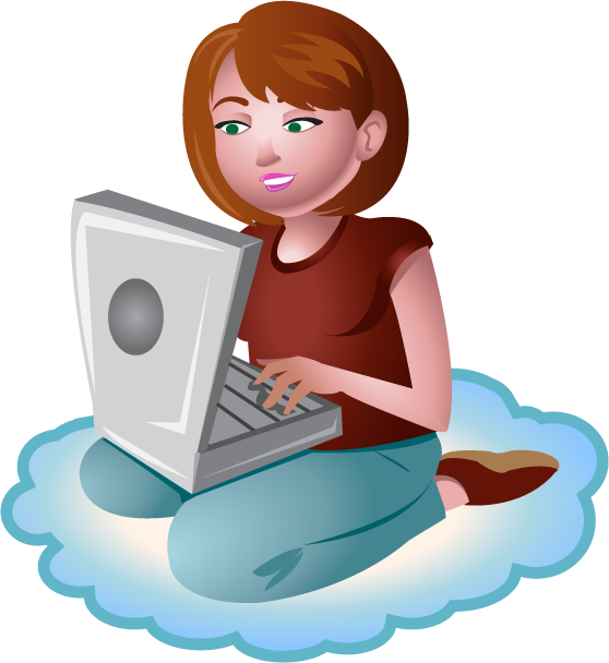 collection of woman. Person clipart technology