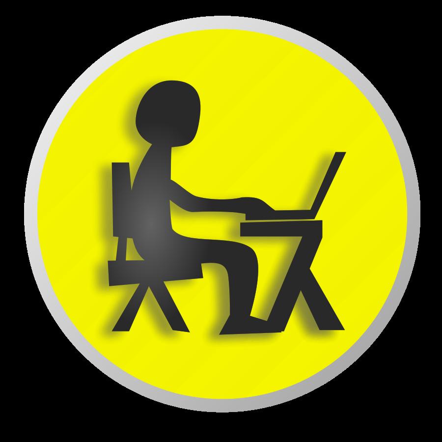Working clipart independent work. Boy laptop panda free