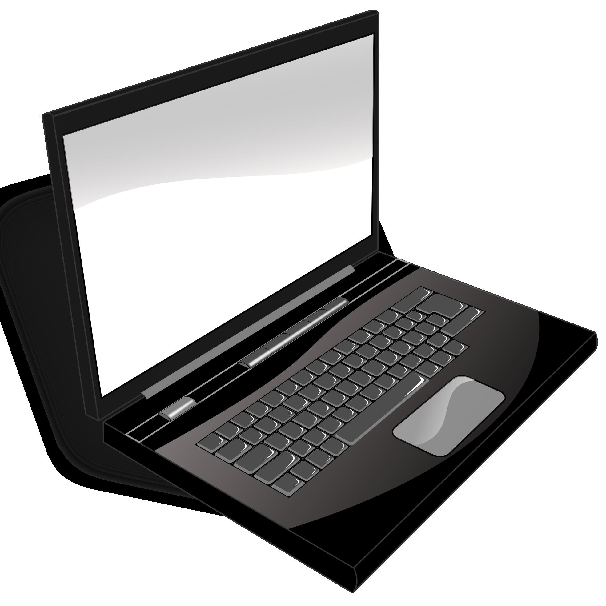 Paper clipart computer. Laptop clip art black