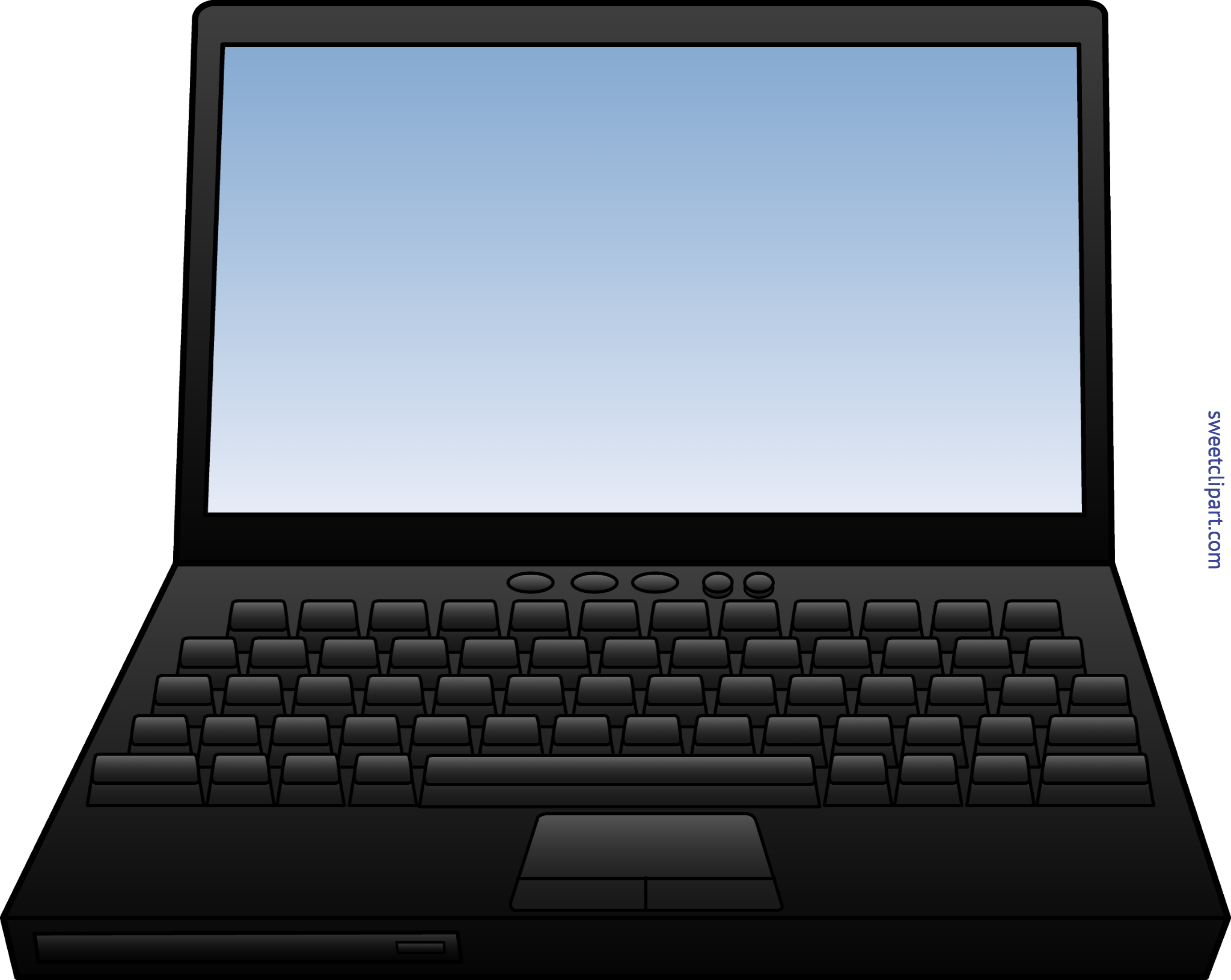 Working clipart laptop. Computer clip art sweet