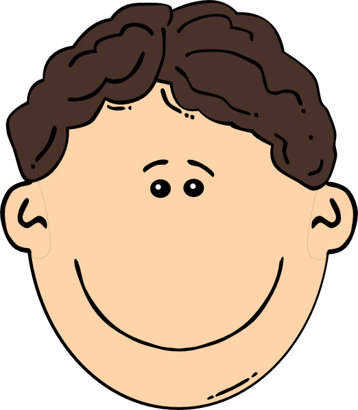Smiling brown hair clip. Wet clipart wet man