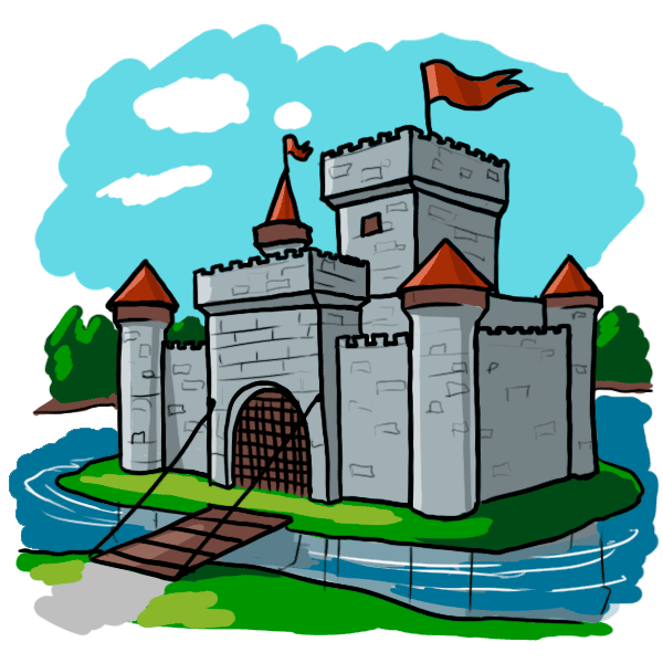 Images of cartoon castles. Landscape clipart castle