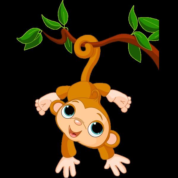 monkeys clipart vine