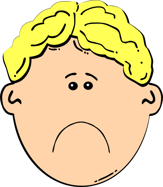 Clip art at clker. Depression clipart sad little boy