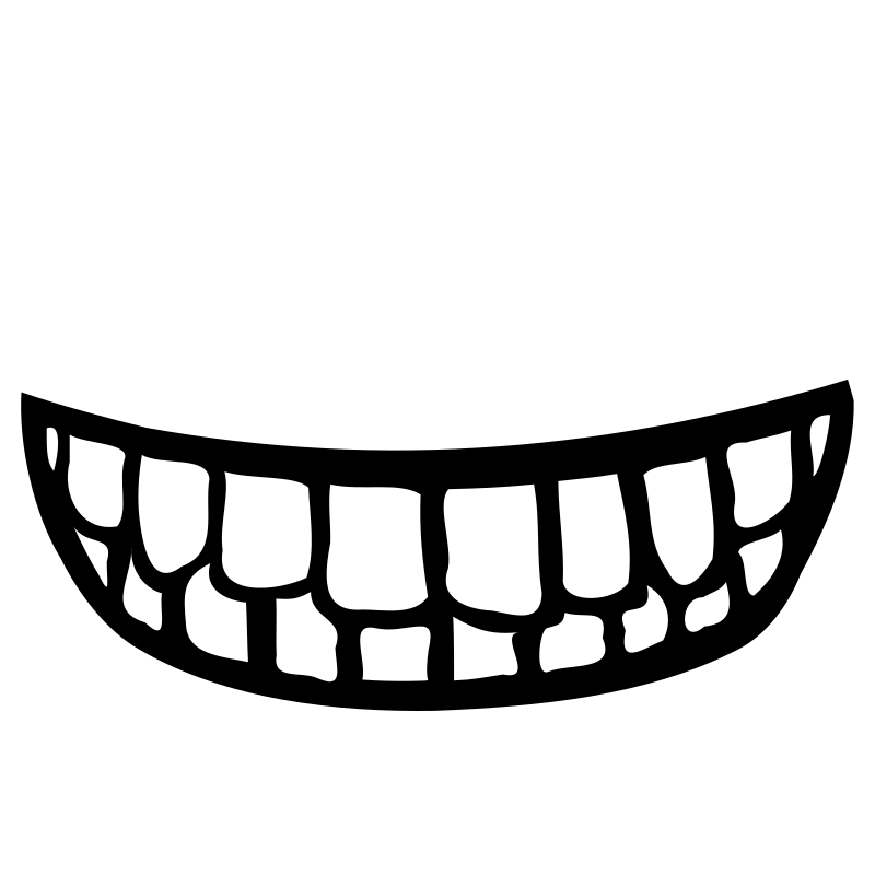Clipart children mouth. Smile teeth with