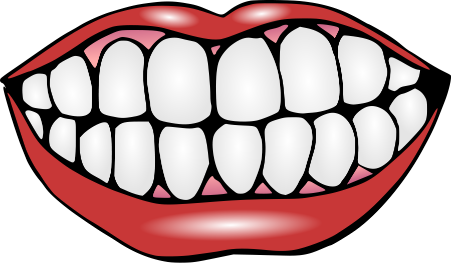 Clipart smile teethy. Mouth with teeth