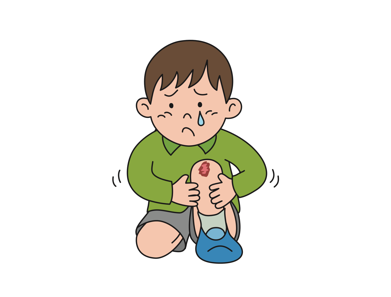 Onlinelabels clip art scraped. Clipart kids knee