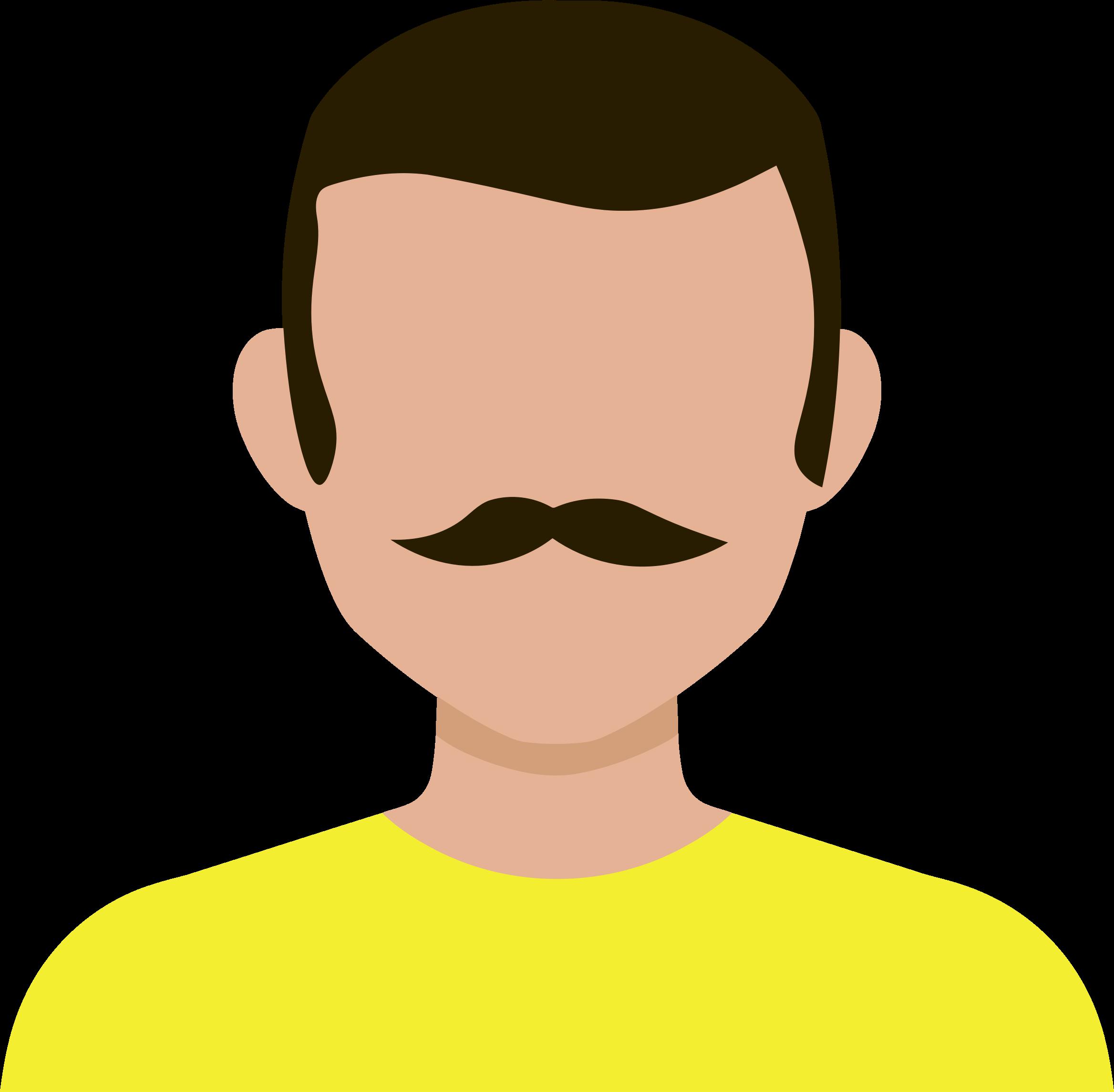 Male avatar big image. Clipart boy nose