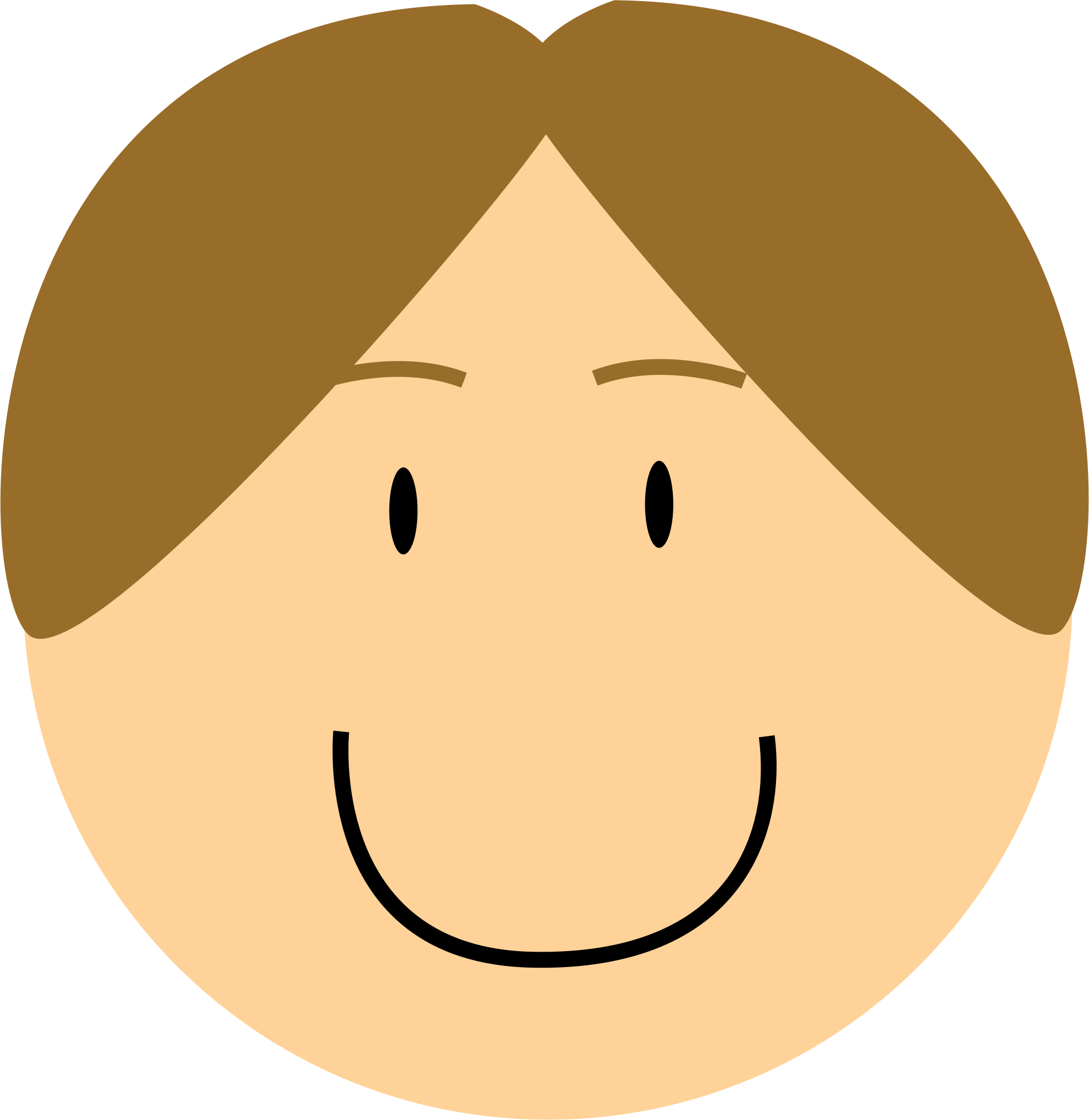 Clipart smile head. Smiling boy big image