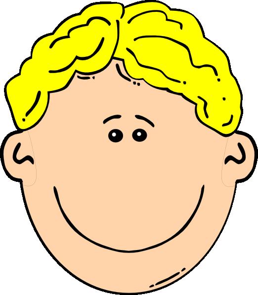 Clipart boy nose. Blonde clip art at