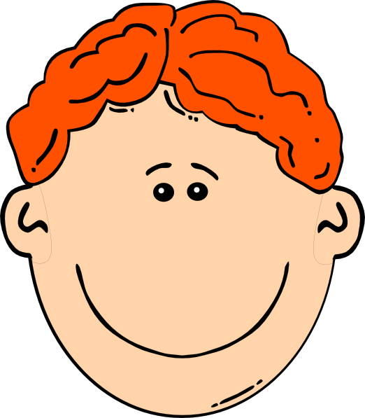 Smiling red boy clip. Clipart smile head