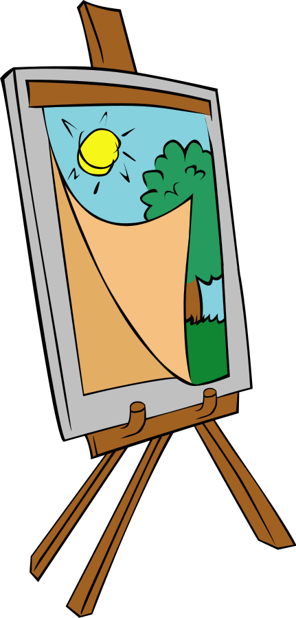 Yearbook clipart kid. Paint easel clipartix