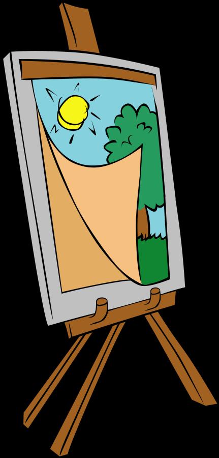 Paint clipart paint bottle. Easel kid clipartix