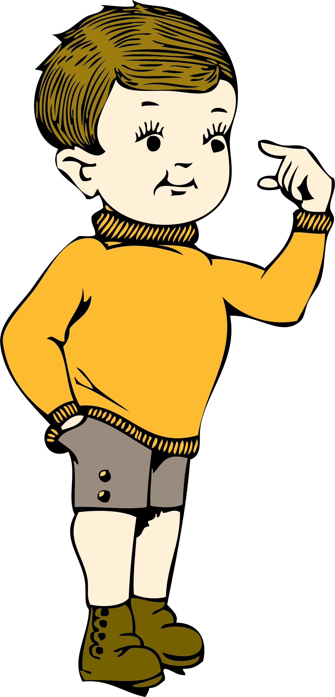 old clipart small person