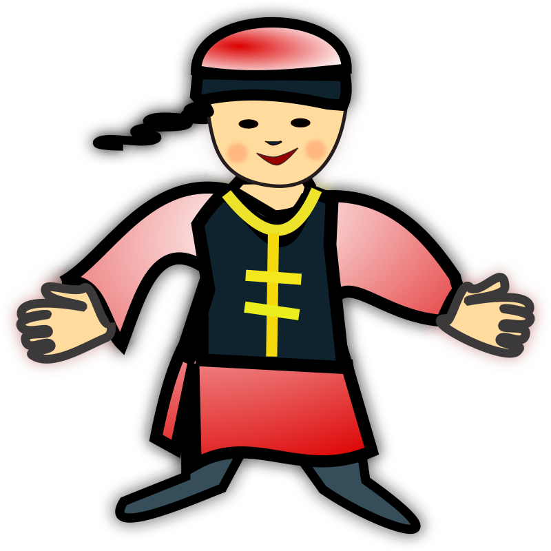 Chinese icon medium image. Clipart boy person