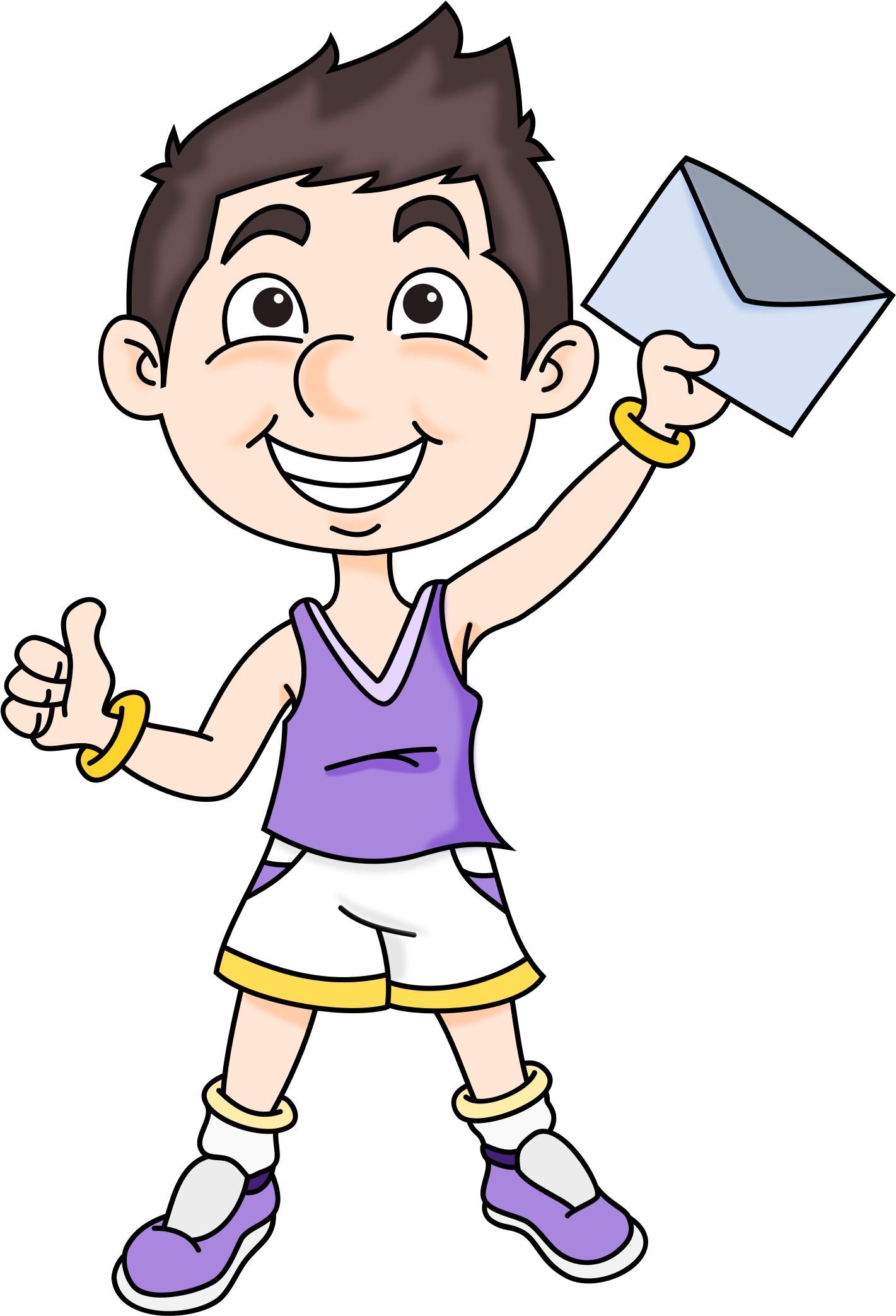 Mail boy big image. Race clipart kid athletic