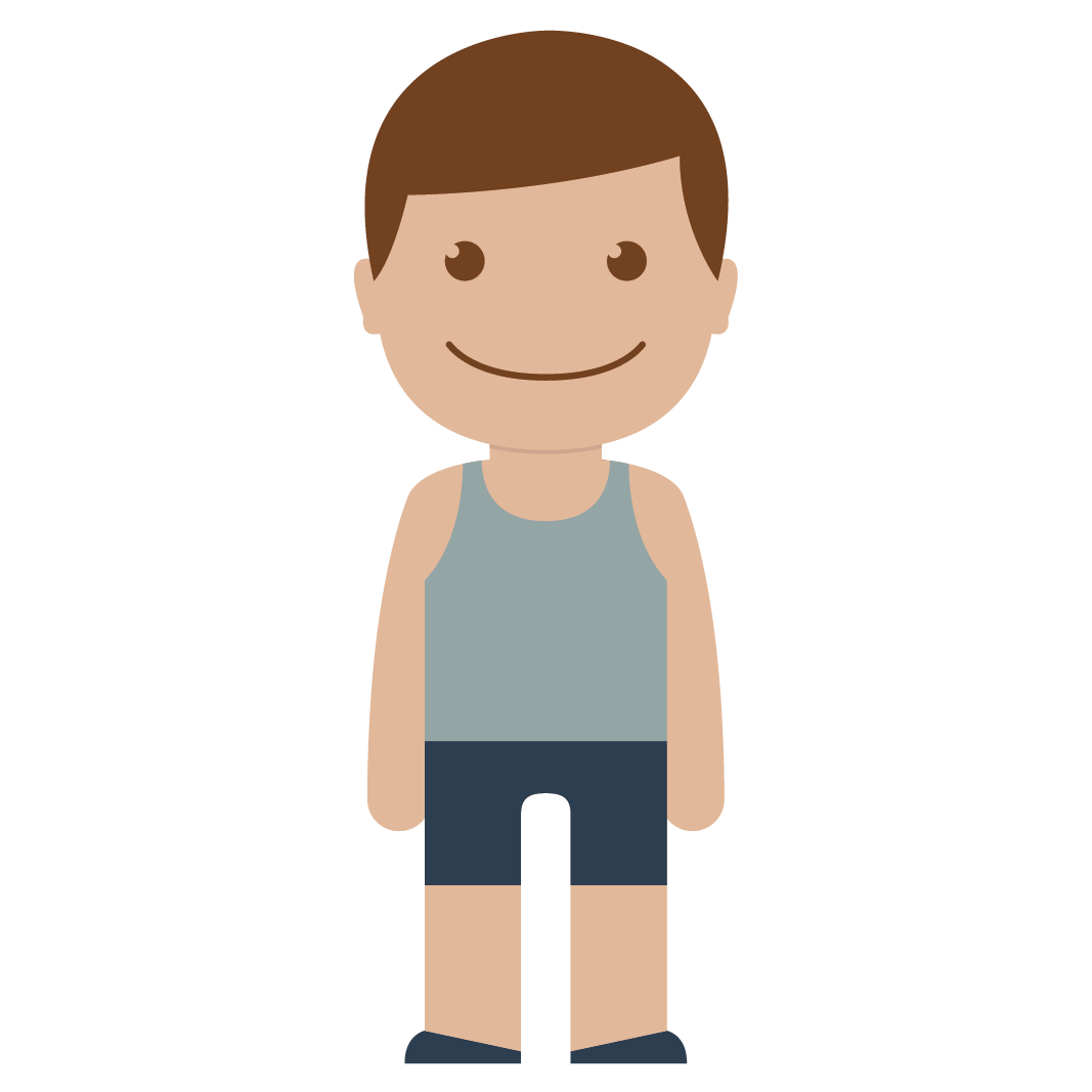 Red kid male child. Clipart boy person
