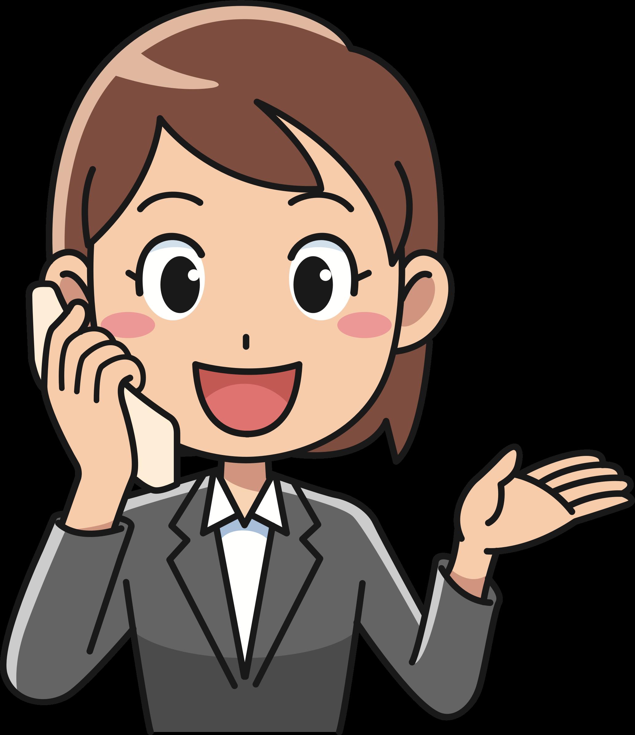 Clipart phone boy. Female using telephone big