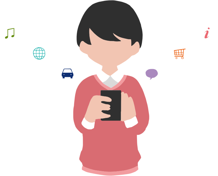 Man using smartphone medium. Phone clipart child