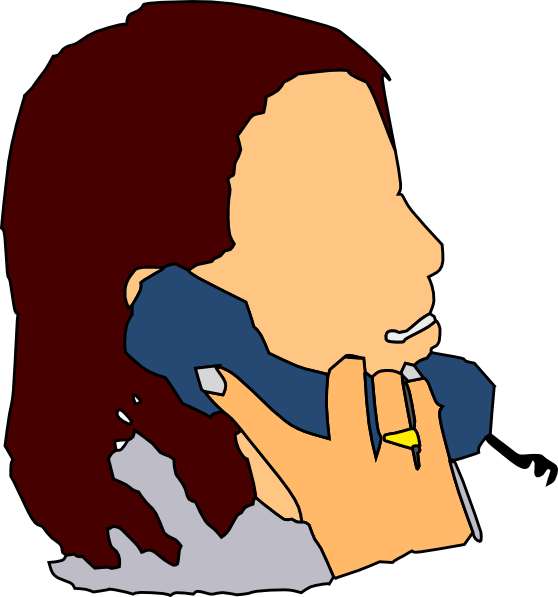 Talking in the phone. Telephone clipart cartoon