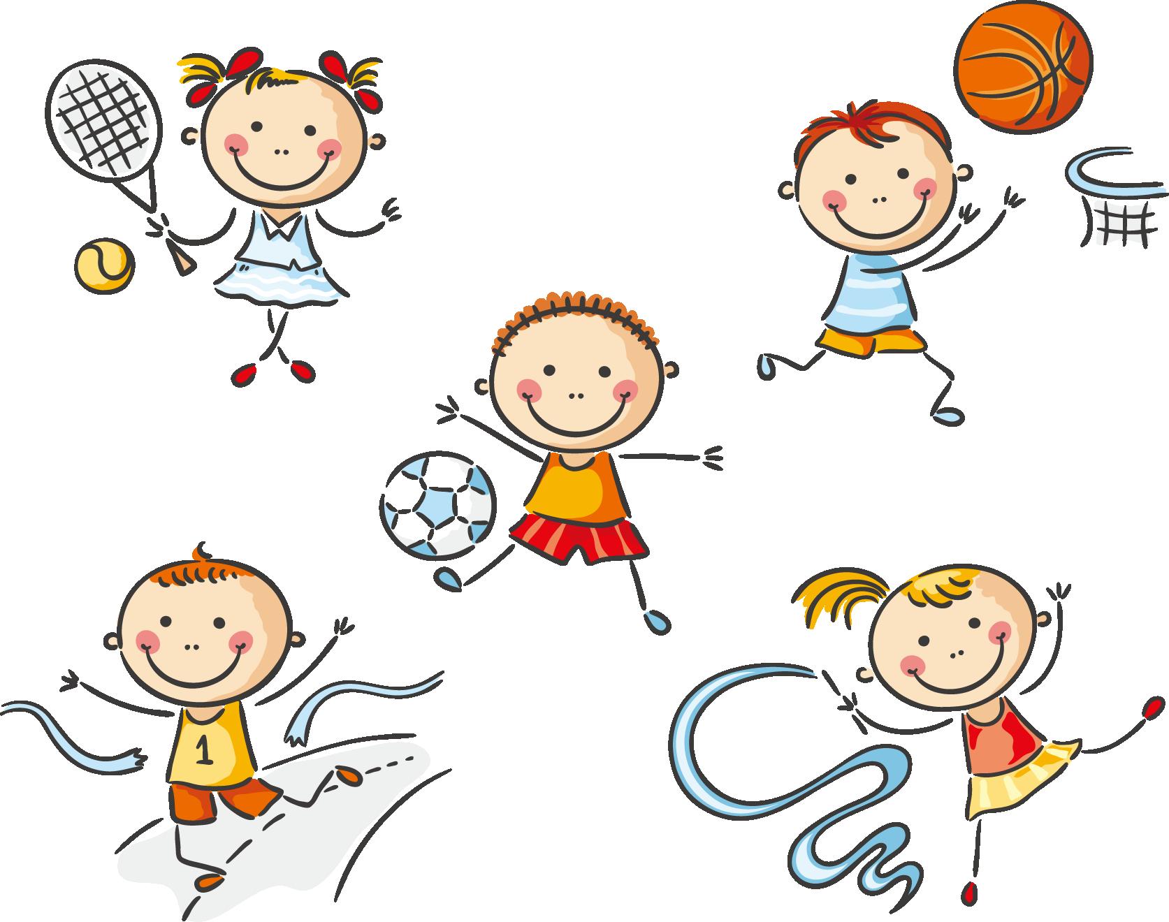 Emotions clipart clip art kid. Physical education cute cartoon