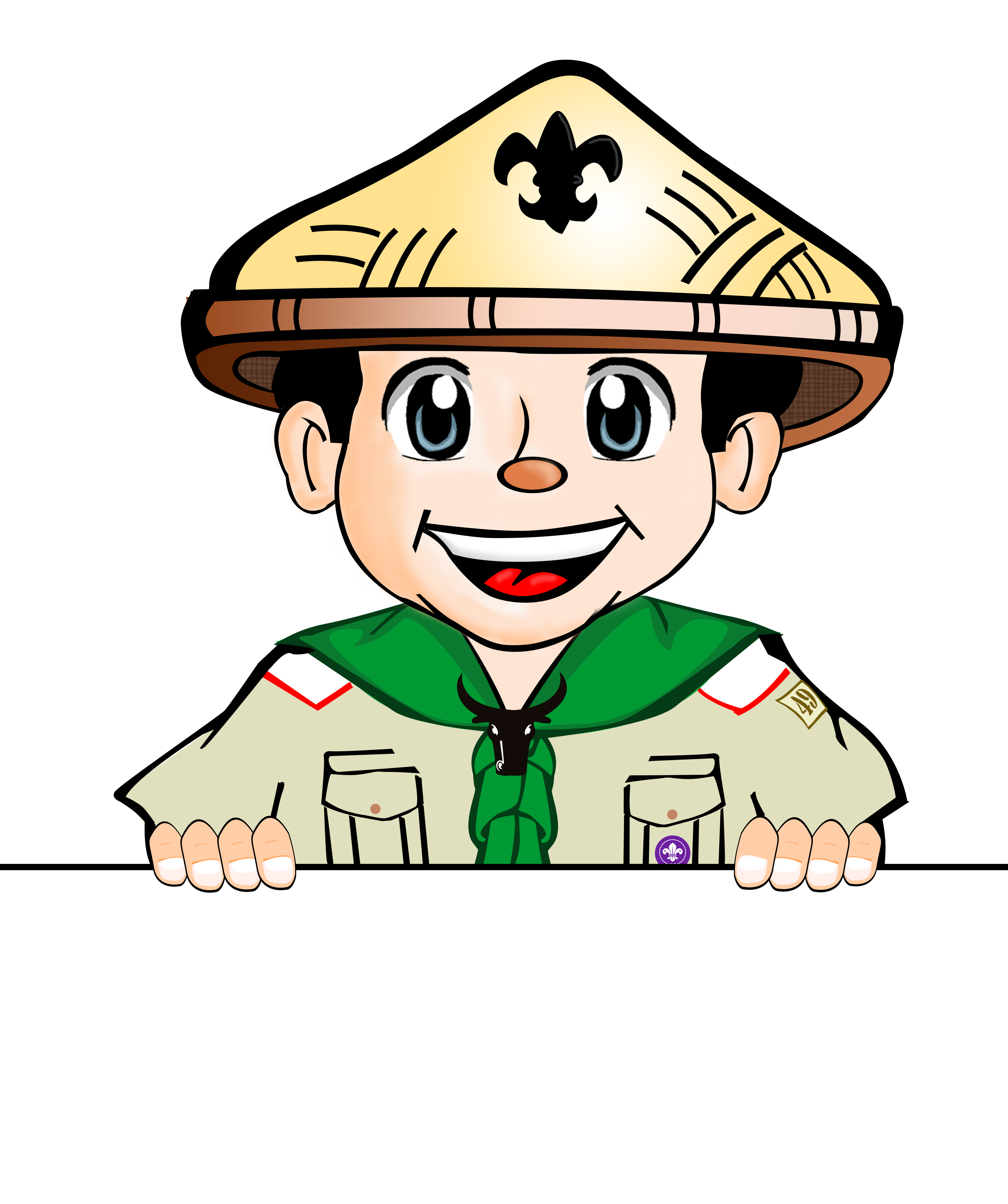 Happiness clipart citizen. Elementary boy scout of