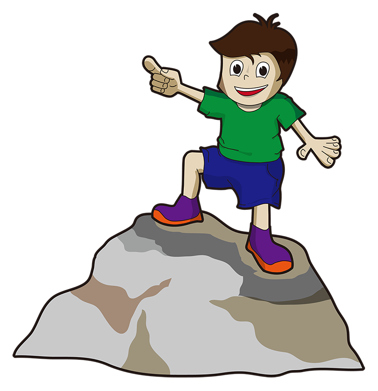 collection of boy. Up clipart pointing