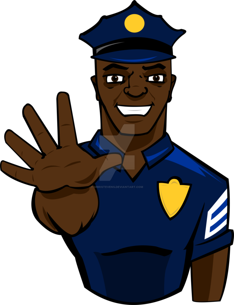 Police officer stop by. Thumb clipart brown