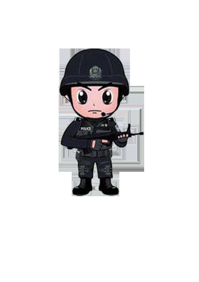 Police officer cartoon swat. Clipart gun policeman