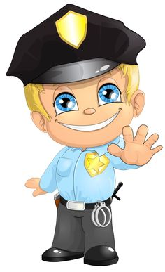 Kid clipart police.  best boys images