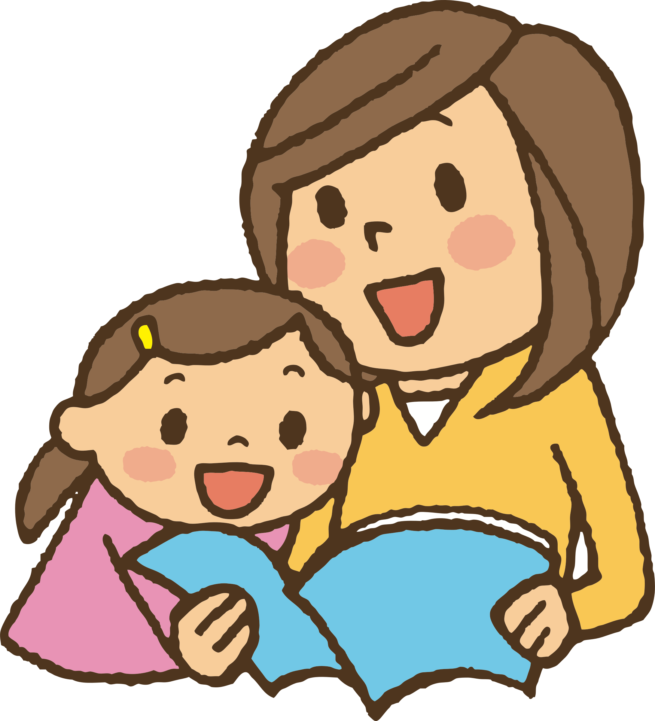 Clipart reading mom baby. With mother big image
