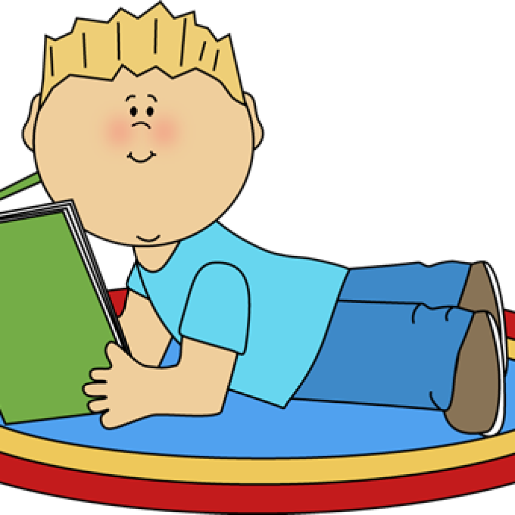Clipart boy read. Reading free cat hatenylo