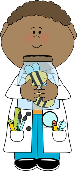 Scientist clipart elementary science. Boy holding jar of