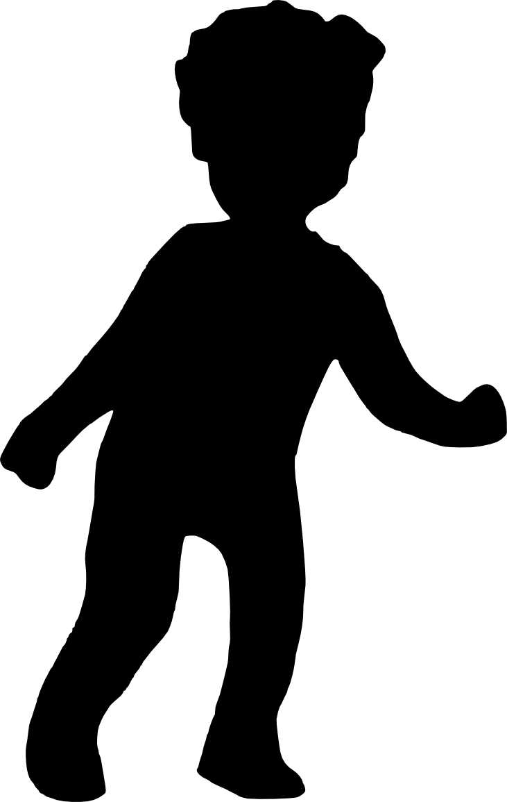 Scooter clipart silhouette. Child at getdrawings com