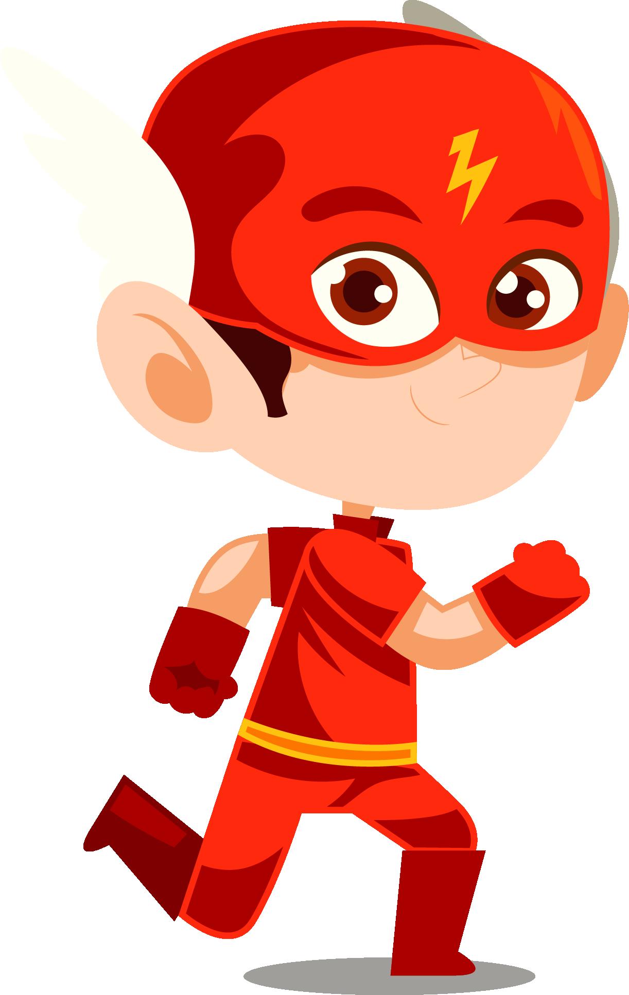 The flash png images. Clipart boy superhero