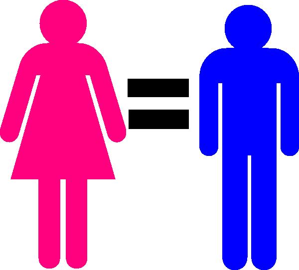 Symbol and female clip. Male clipart 1 person
